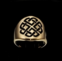 Picture of 21 x ROUND BRONZE CELTIC LOVER'S SHIELD BAND RINGS SAILOR'S KNOT BLACK WHOLESALE-LOT