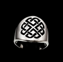 Picture of 21 x ROUND STERLING SILVER CELTIC LOVER'S SHIELD BAND RINGS SAILOR'S KNOT BLACK WHOLESALE-LOT