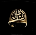 Picture of 21 x BRONZE BAND RINGS ROUND CELTIC SHIELD CROSS KNOT PROTECTION BLACK WHOLESALE-LOT
