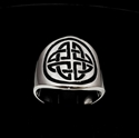 Picture of 21 x STERLING SILVER BAND RINGS ROUND CELTIC SHIELD CROSS KNOT PROTECTION BLACK WHOLESALE-LOT