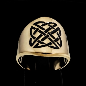 Picture of 21 x BRONZE BAND RINGS ROUNDED CELTIC KNOT SHIELD PROTECTION BLACK WHOLESALE-LOT