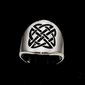 Picture of 21 x STERLING SILVER BAND RINGS ROUNDED CELTIC KNOT SHIELD PROTECTION BLACK WHOLESALE-LOT