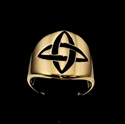 Picture of 21 x ROUND BRONZE BAND RINGS CELTIC CROSS KNOT ETERNITY BLACK WHOLESALE-LOT