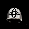 Picture of 21 x ROUND STERLING SILVER BAND RINGS CELTIC CROSS KNOT ETERNITY BLACK WHOLESALE-LOT