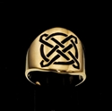 Picture of 21 x ROUND BRONZE BAND RINGS CELTIC ETERNITY KNOT CROSS PROTECTION BLACK WHOLESALE-LOT