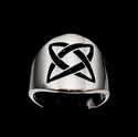 Picture of 21 x ROUND STERLING SILVER BAND RINGS CELTIC ETERNITY KNOT X - CROSS BLACK WHOLESALE-LOT