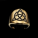 Picture of 21 x ROUND BRONZE BAND RINGS CELTIC TRINITY KNOT WITH CIRCLE BLACK WHOLESALE-LOT