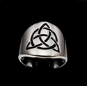 Picture of 21 x ROUND STERLING SILVER BAND RINGS CELTIC TRINITY KNOT WITH CIRCLE BLACK WHOLESALE-LOT