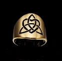 Picture of 21 x ROUND BRONZE BAND RINGS CELTIC TRINITY KNOT WITH HEART BLACK WHOLESALE-LOT