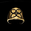 Picture of 21 x ROUND BRONZE BAND RINGS CELTIC KNOT ETERNITY X - CROSS BLACK 2 WHOLESALE-LOT