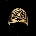 Picture of 21 x ROUND BRONZE BAND RINGS CELTIC KNOT ETERNITY SIX POINT FLOWER STAR BLACK WHOLESALE-LOT