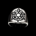 Picture of 21 x ROUND STERLING SILVER BAND RINGS CELTIC KNOT ETERNITY SIX POINT STAR BLACK WHOLESALE-LOT