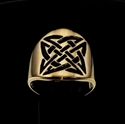 Picture of 21 x ROUND BRONZE BAND RINGS CELTIC SHIELD KNOT SAILOR'S ETERNITY BLACK WHOLESALE-LOT