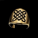 Picture of 21 x ROUND BRONZE BAND RINGS CELTIC SHIELD KNOT SAILOR'S PROTECTION BLACK WHOLESALE-LOT