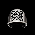 Picture of 21 x ROUND STERLING SILVER RINGS CELTIC SHIELD KNOT SAILOR'S PROTECTION BLACK WHOLESALE-LOT