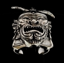 Picture of 21 x STERLING SILVER MEN'S SAMURAI HELMET RINGS MEMPO MASK KABUTO ARMOUR PRIDE WARRIOR WHOLESALE-LOT