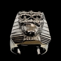 Picture of 21 x STERLING SILVER MEN'S SPHINX RINGS EDDIE THE HEAD IRON MAIDEN MASCOT PHARAOH MUMMY WHOLESALE-LOT